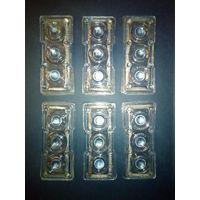 Вставки для люстры светильника или для декора стекло
