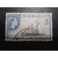 Барбадос, колония Англии 1954 королева, парусник
