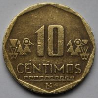 Перу, 10 сентимо 2010 г.