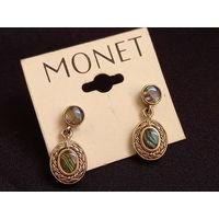 Серьги, Monet, Моне, винтаж 60е года