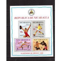 Никарагуа-1968,(Мих.Бл.68)  **  Спорт, ОИ-1968