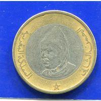 Марокко 10 дирхамов 1995 ,биметалл