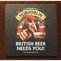 Подставка под пиво Hobgoblin No 5 /Великобритания, Россия/