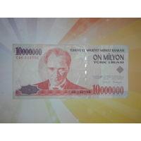 Турция 10 000 000 лир 1998-2000гг.