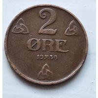 Норвегия 2 эре, 1938  4-11-6