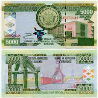 Бурунди. 5000 франков (образца 2008 года, P48a, UNC)