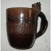Пивная кружка керамическая. СССР. Начало 70 х  (1л)