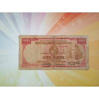 Уругвай 100 песо 1939г  РЕДКАЯ