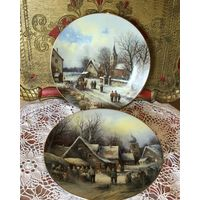Тарелка Коллекционная Рождество Германия 2 шт