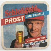 Подставка под пиво Schlobgold /Австрия/-1