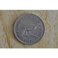 Новая Зеландия 6 пенсов 1958