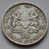 Кения, 50 центов 1989 г