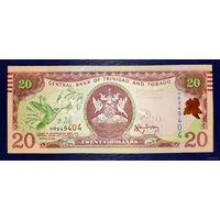 РАСПРОДАЖА С 1 РУБЛЯ!!! Тринидад и Тобаго 20 долларов 2006 год UNC