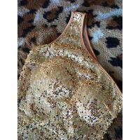 Платье коктейльное золотое на одно плечо