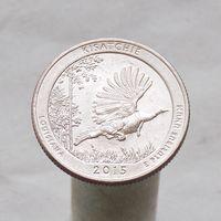 США 25 центов 2015 D Луизиана - Национальные лес Kisatchie