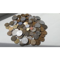 Более 180 монет (510 гр.): Европа, Азия, СССР, Россия и др. (менее 8 коп. за шт.) + БОНУС