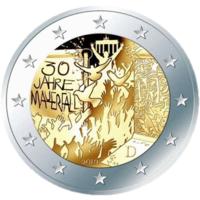 2 евро 2019 Германия D 30 лет падения Берлинской стены UNC из ролла НОВИНКА