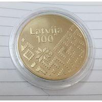 Латвия 100 лет государственности (латунь, диаметр 31 мм)