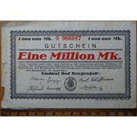 1 миллион марок 1923г. Бад-Райхенхалль