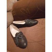 Туфли балетки р.38.5  кожаные