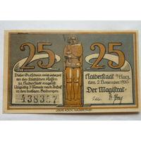 Германия. 25 пфеннигов 1920г.