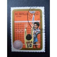 Никарагуа. Олимпийские игры Лос-Анджелес 1984  Mi:NI 2522 волейбол
