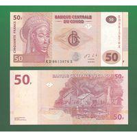 Банкнота Конго 50 франков 2013 UNC ПРЕСС