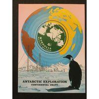Исследование Антарктиды. Монголия,1980, блок