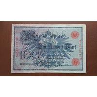 Германия / 100 mark / 1908 год / Ro-33 (b) / контрольный номер шириной 29 мм
