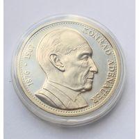 """Германия (ФРГ), Медаль """"Конрад Аденауэр - первый федеральный канцлер ФРГ"""" - 40мм"""