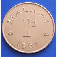 Малави. 1 пенни 1967 год  KM#6  Редкая!!!