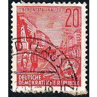 131: Германия (ГДР), почтовая марка, 1955 год