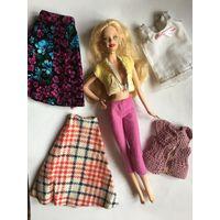 Одежда для куколы Barbie Барби 6 шт набором юбки, штаны, кофты