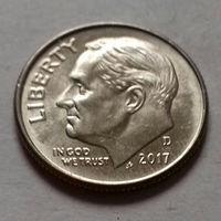 10 центов (дайм) США 2017 D, AU