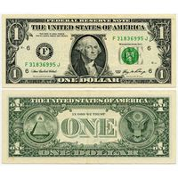 США. 1 доллар (образца 2006 года, F, Джорджия, P523)