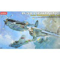 Сборная модель Самолет P-38E/J/L, сборная модель самолета 1/48 Academy 12282 Сборка без клея