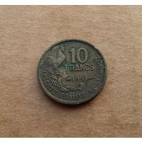 Франция, 10 франков 1951 г.