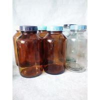 Бутыль банка 1л СССР лабораторная тёмное стекло