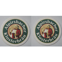 "Подставка под пиво ""Alpirsbacher Klosterbrau"".Германия."