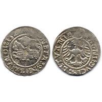 Полугрош 1523, Жигимонт Старый, Вильно.Окончания легенд: Ав - ':15Z3:?', Рв - 'LITVANIE'. Более редкий год, IV группа редкости