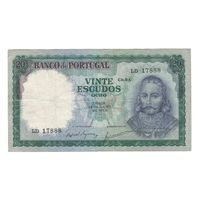 Португалия 20 эскудо 1960 года. Дата 26 июля. Нечастая! Состояние VF+!