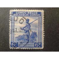 Конго 1942 колония Бельгии часовой, солдат