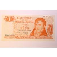 Аргентина, 1 песо  1970-73 год.