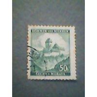 Богемия и Моравия. Ландшафт. 1939г. гашеная
