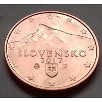 5 евроцентов, Словакия 2017 г., AU