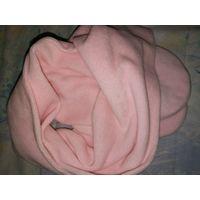 Шарфик велюровый розовый