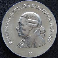 YS: ГДР, 5 марок 1978, 175-летие смерти Фридриха Готтлиба Клопштока, KM# 67