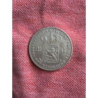 Нидерланды 2 1/2 гульдена 1873 г.