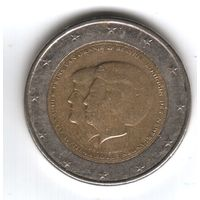 Нидерланды 2 евро 2013г. Коронация Короля Виллема-Александра.