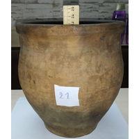 Горшочек большой глиняный нечастый 21